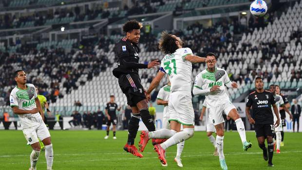 Weston McKennie scores for Juventus vs. Sassuolo
