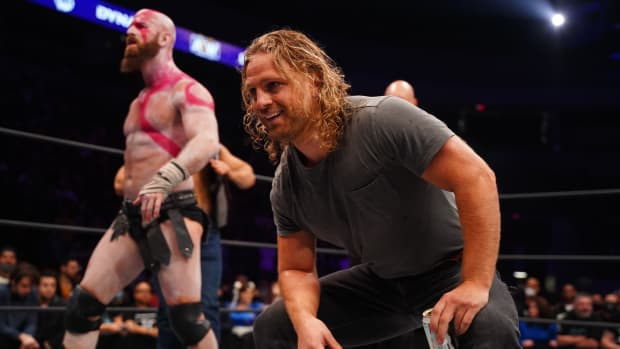 Hangman Adam Page in the ring on AEW Dynamite