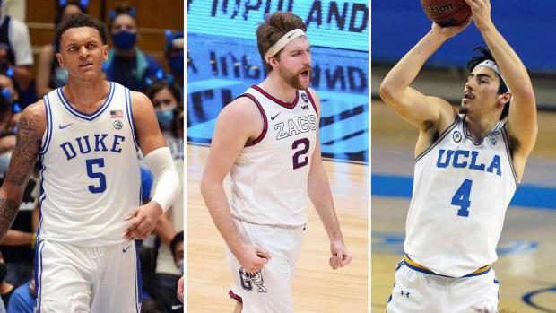 Duke's Paolo Banchero, Gonzaga's Drew Timme and UCLA's Jaime Jaquez Jr.