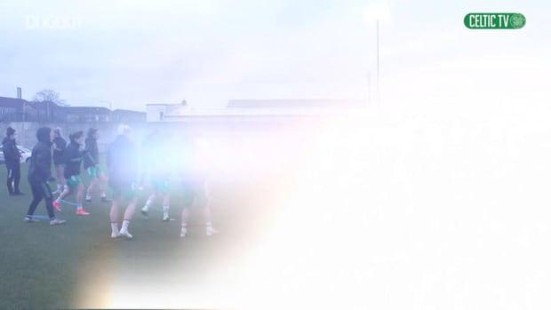 Celtic Women train ahead of return to football against Glasgow City.