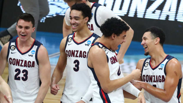 Gonzaga celebrates Elite 8 win over USC