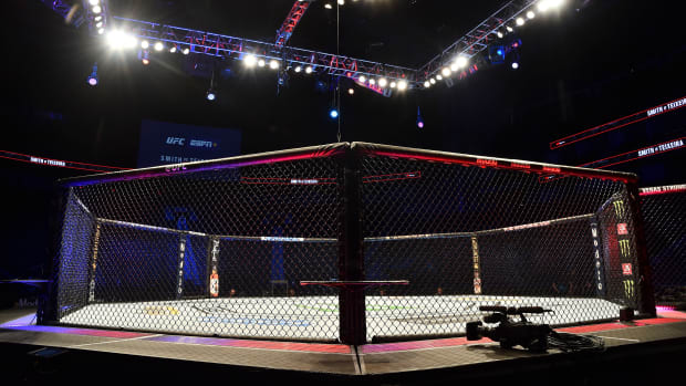 General view of an MMA cage