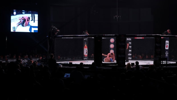 General view of the venue for a Bellator MMA fight