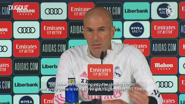 Zinedine Zidane: 'Every game is a final from here on out'