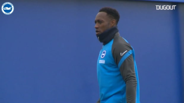 Brighton train ahead of Manchester United