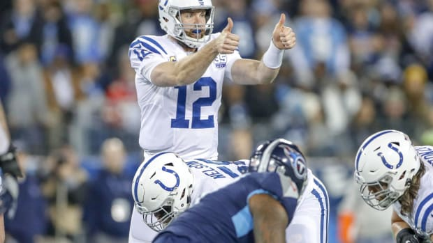 Colts quarterback Andrew Luck was named NFL Comeback Player of the Year. Indianapolis Colts Take On The Tennesee Titans At Nissan Stadium In Nashville