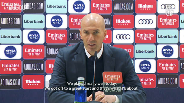 Zinedine Zidane 'We have to keep going and take every day as it comes'
