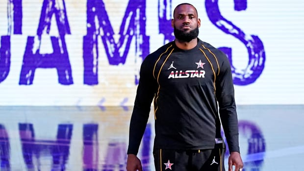 LeBron James at the all-star game