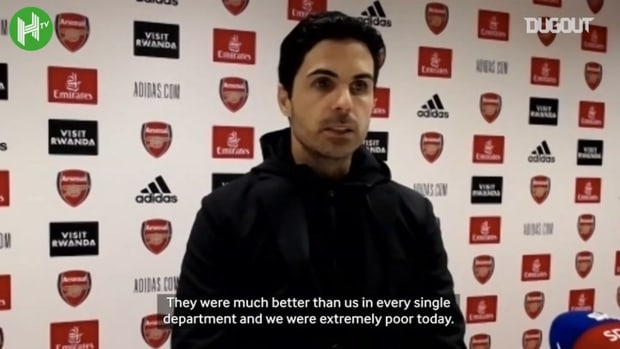 Arteta apologises to Arsenal fans after Liverpool performance
