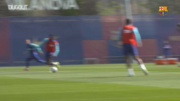 Barcelona's last training ahead of Valladolid clash