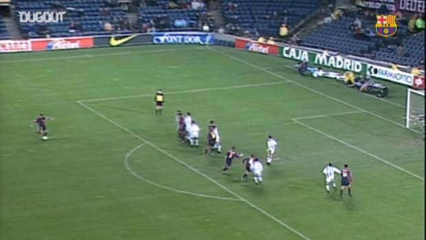 Pep Guardiola's late winner free-kick vs Valladolid