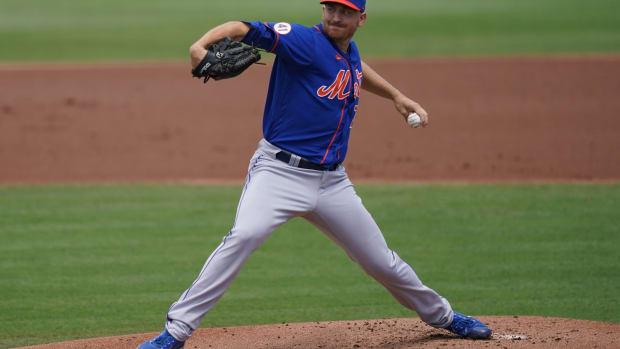 Mets left-hander Mike Montgomery