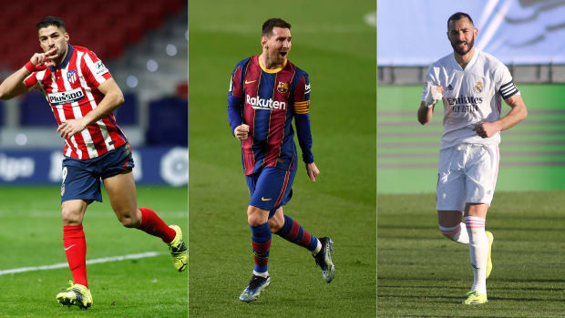 Atletico Madrid, Barcelona and Real Madrid are vying for La Liga's title