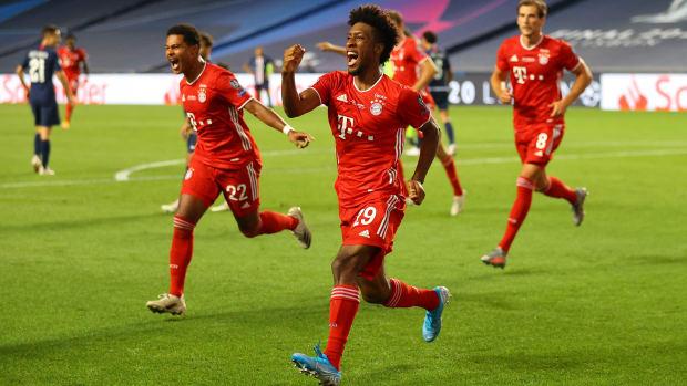 Bayern Munich scores against PSG.