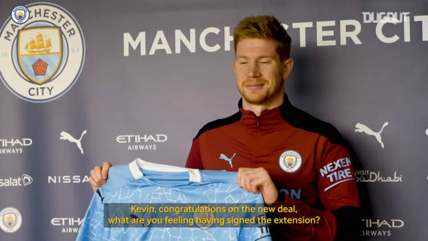 Kevin De Bruyne 'proud' to sign new Manchester City deal