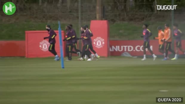 Manchester United train ahead of Granada