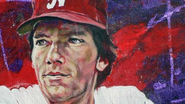 Dave Magaden portrait when inducted in College Baseball Hall of Fame