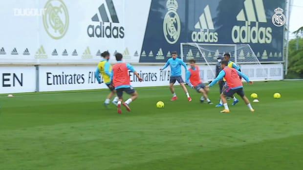 Real Madrid continues preparations ahead of El Clásico