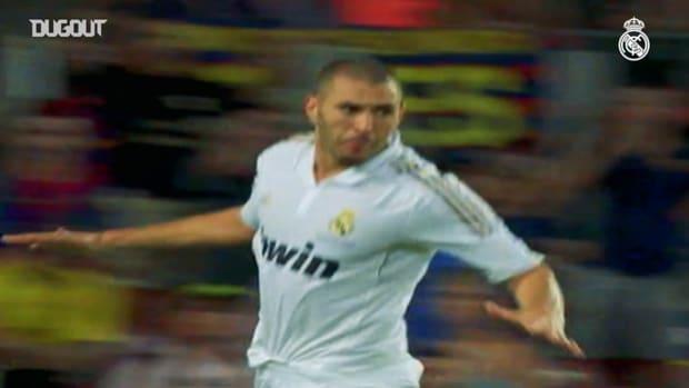 All of Karim Benzema's goals against FC Barcelona