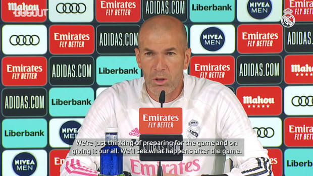 Zinedine Zidane: 'It's going to be a tough game, but we're ready'