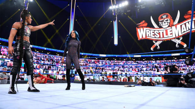 Bianca Belair and Sasha Banks on SmackDown