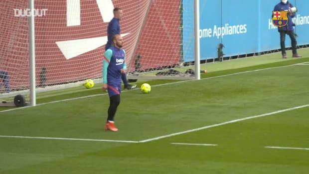 Barcelona's last training ahead of El Clásico clash