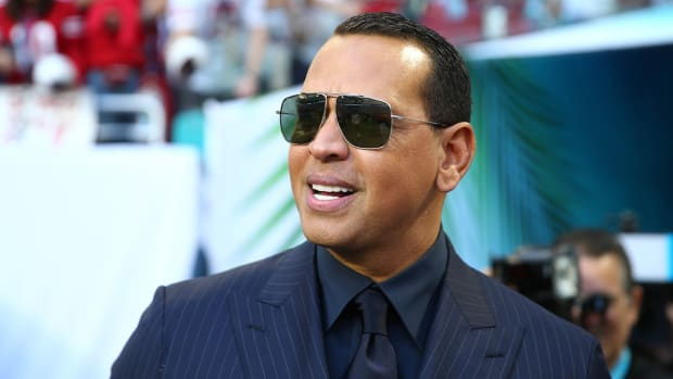 Alex Rodriguez at Super Bowl LIV.