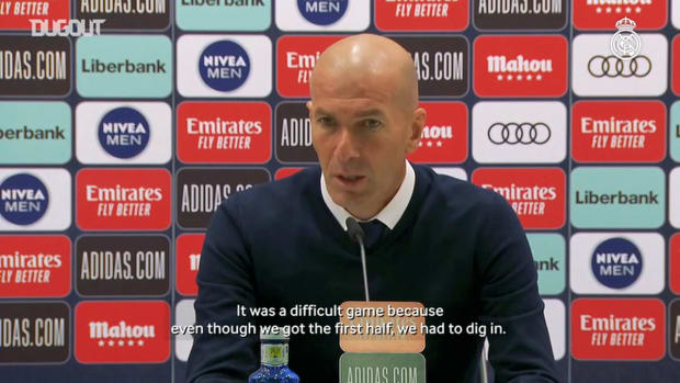 Zinedine Zidane: 'It's a well-deserved Real Madrid win'