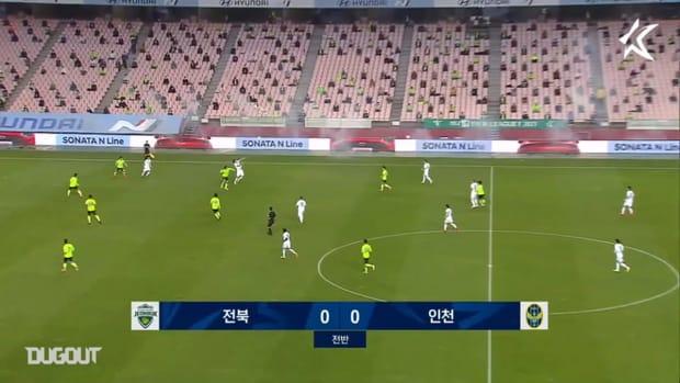 Jeonbuk 5-0 Incheon: Han Kyo-won, Lee Seung-gi hit doubles