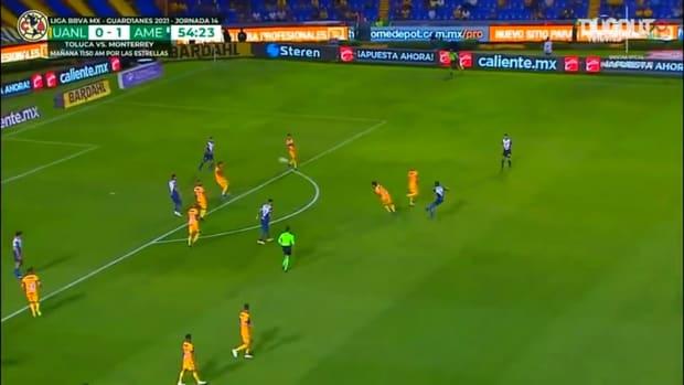 Pedro Aquino's long-range goal vs Tigres