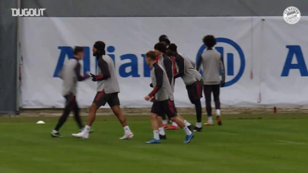Bayern stars train in the snow ahead of PSG clash