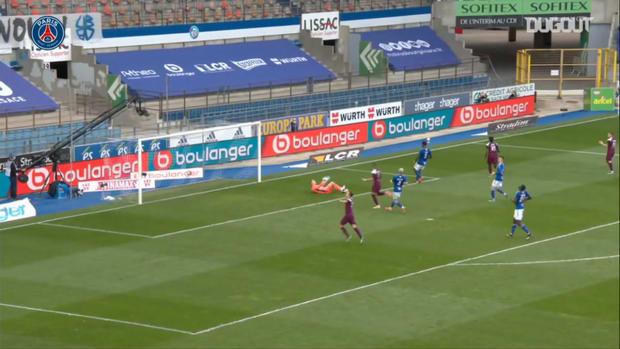 Moise Kean's superb finish against Strasbourg in Ligue 1