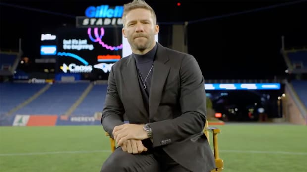 Julian Edelman during his retirement announcement.