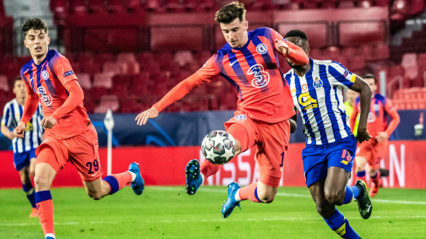 Mason Mount against Porto.