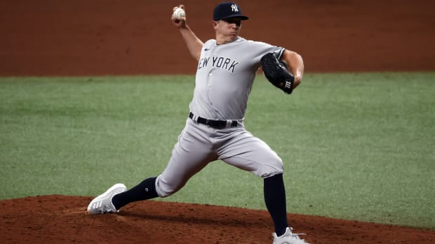 Chad Green pitching out of Yankees bullpen
