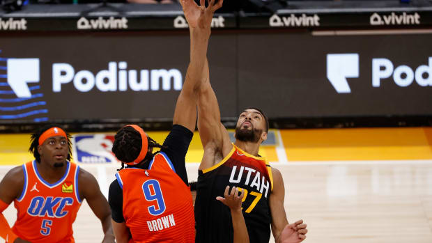 Moses Brown, Lu Dort, Rudy Gobert, Utah Jazz