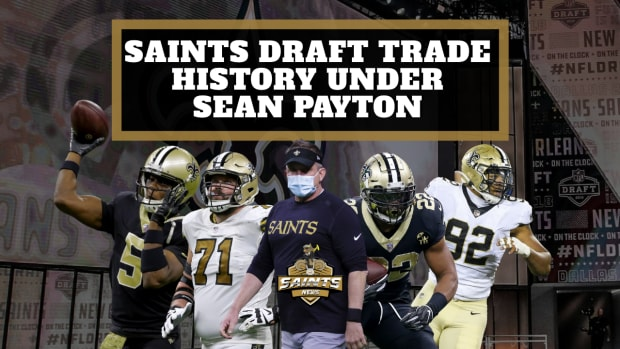 Saints Draft Trade History