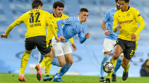 Phil Foden against Borussia Dortmund