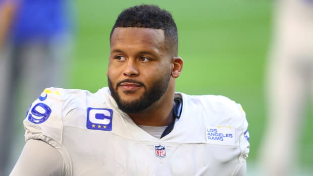 Rams defensive tackle Aaron Donald
