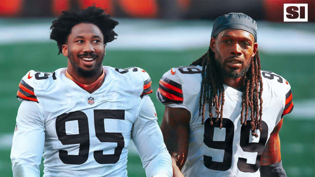 Jadeveon Clowney and Myles Garrett with the Browns