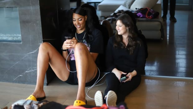 Liz Cambage and Allison Galer