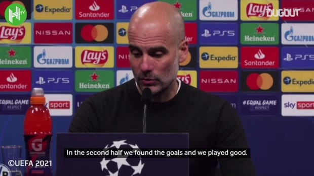 Pep Guardiola: 'Finally Manchester City are in the semi-finals'