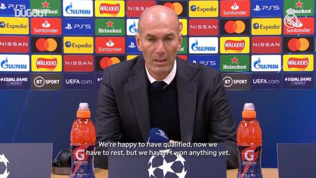 Zinedine Zidane: 'We're proud of everything we've been doing'