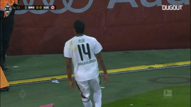 Pléa's first home goal for Borussia Mönchengladbach