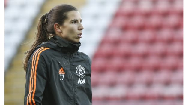 Manchester, ENGLAND, December 20th Manchester United's Tobin Heath during the FA Women's Super League match between Manchester United and Bristol City at the Leigh Sports Village Stadium, Leigh, UK.