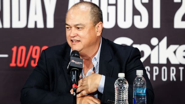 Bellator CEO Scott Coker at a press conference