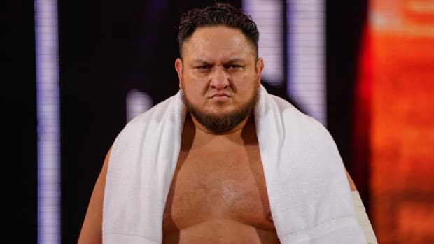 WWE's Samoa Joe makes his entrance