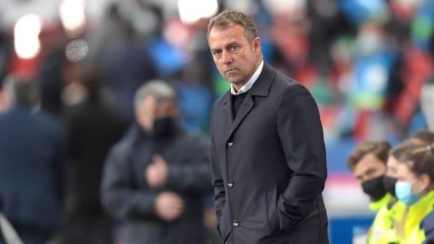 Bayern manager Hansi Flick against PSG