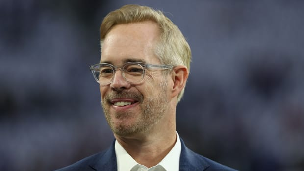 Joe Buck at the NFC divisional playoff game in 2018