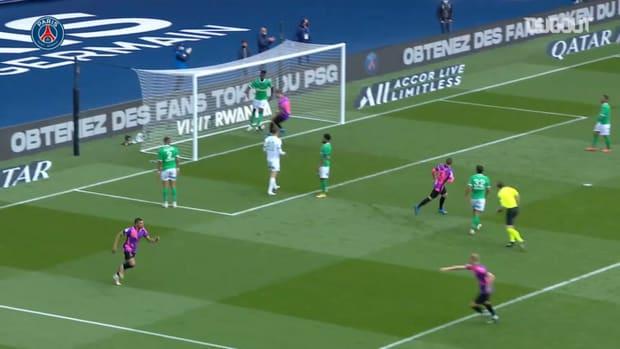 Mbappé's equalizer against Saint-Etienne
